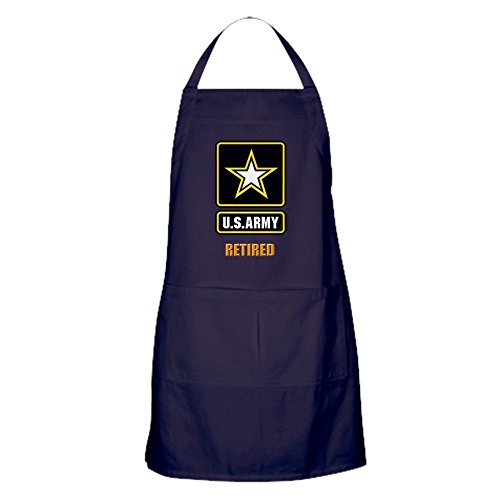 CafePress U.S. ARMY RETIRED Kitchen Apron with Pockets, Grilling Apron, Baking Apron