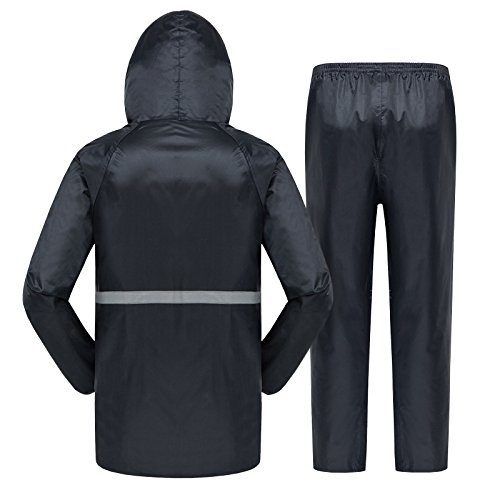 libre mujeres Reflective impermeable aire y poncho blue hombres espesa impermeable Navy al SqgqtYw