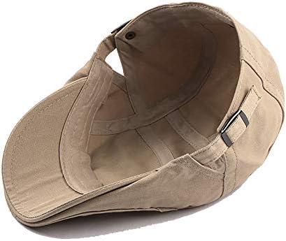 野球帽 ハンチング メンズ ハット ゴルフ コットン 調整可能 ソフト シンプル 鳥打帽 55-60cm LWQJP (Color : 2, Size : Free size)