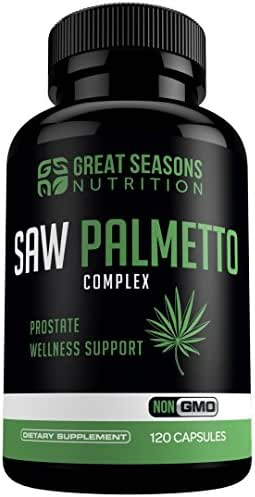 Saw Palmetto Supplement for Prostate Health - Non-GMO, 120 Capsules, Extract and Berry Powder Complex