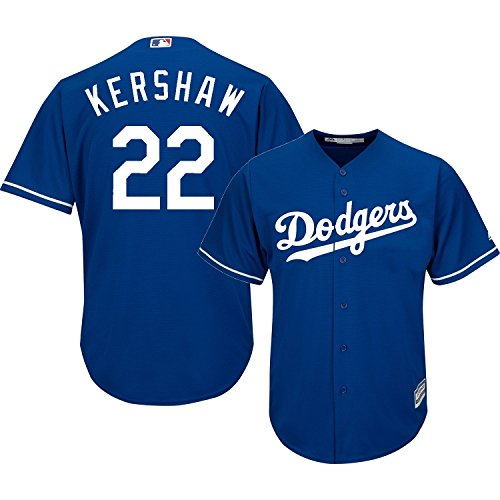 Authentic Cool Base Jersey - Clayton Kershaw Los Angeles Dodgers Blue MLB Youth Cool Base Alternate Replica Jersey (Large 14/16)