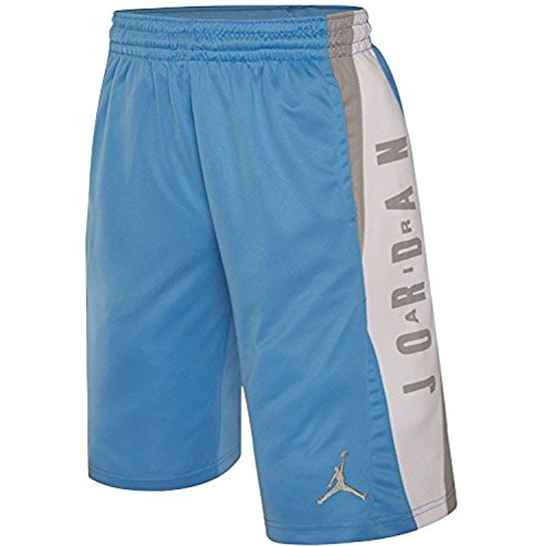 Jordan Nike Boys' Takeover Basketball Shorts Dri-Fit (Large, University Blue)