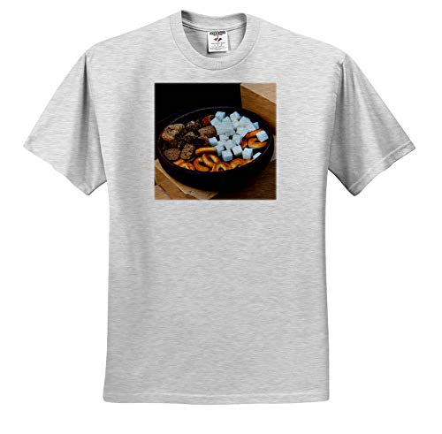 Earthenware Sugar Bowl - Alexis Photography - Food - an Earthenware Bowl Filled with Sugar, Dried Bread and cracknels - T-Shirts - Adult Birch-Gray-T-Shirt 3XL (ts_307628_23)