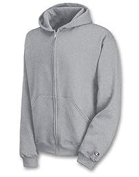 Champion Boys Big Powerblend Eco Fleece Full Zip Hoodie, Light Steel, L