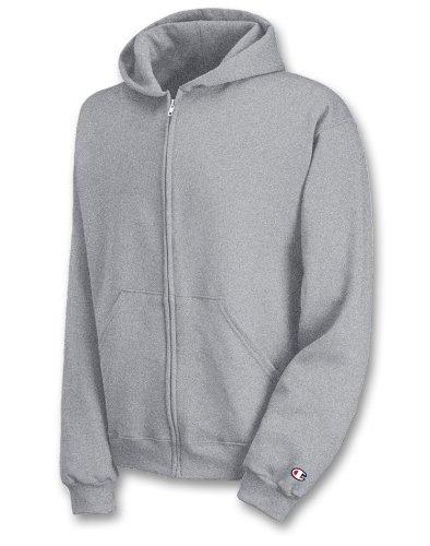 Champion Youth Double Dry Action Fleece Full Zip Hood_Light Steel_XL