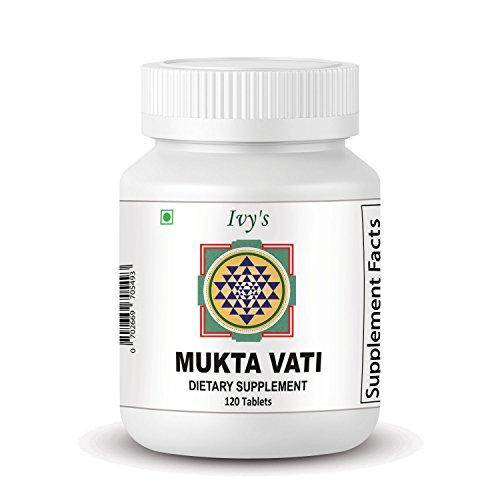 Original Ivy's Mukta Vati – Natural Ayurvedic Blood Pressure Support – 120 Tablets With Eight Major Herbs Formula