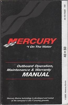 2003 MERCURY OUTBOARD 40 & 50 HORSEPOWER OPERATION & MAINTENANCE MANUAL(893)