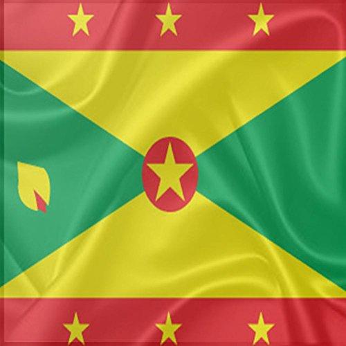 Rikki Knight Grenada Flag Design - Square Beer Coasters