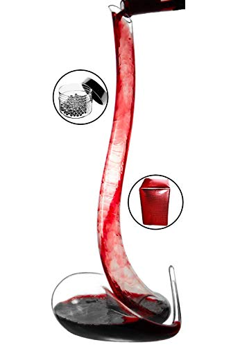 Amazing Home Lead Free Crystal Glass Cobra Wine Decanter,Red Wine Carafe,Prepackaged Luxury Gift Box and Free Cleaning Beads Set by Amazing Home
