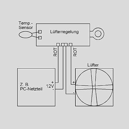 Lüfter Temperaturregelung für 12V: Amazon.de: Computer & Zubehör