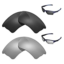 Walleva Polarized Titanium + Black Replacement Lenses Oakley Quarter Jacket Sunglasses