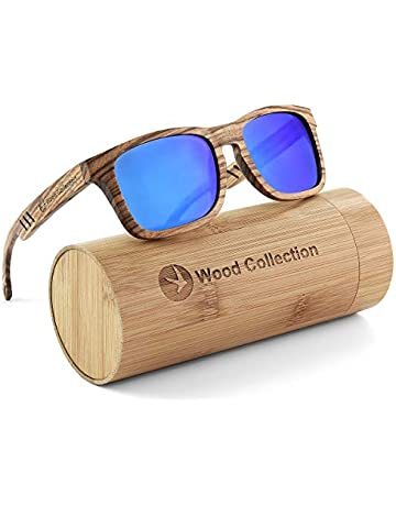 4083fd6e7f7c SKADINO Wood Sunglasses with Polarized lenses-Handmade Unisex Wood Shades  for Men&Women-Zebra Wood