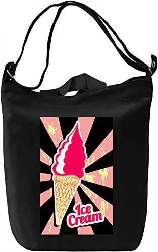 Pink Ice Cream Borsa Giornaliera Canvas Canvas Day Bag| 100% Premium Cotton Canvas| DTG Printing|