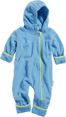 Playshoes Unisex Baby Schneeanzug Fleeceoverall, Fleeceanzug, Oeko Tex Standard 100, Gr. 80, Blau (aquablau 23)