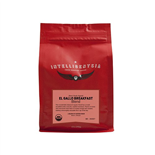 Intelligentsia Certified Organic El Gallo Blend - 12 oz - Roasted Fresh To Order, Medium Roast, Water-Processed, Direct Trade, Whole Bean Coffee