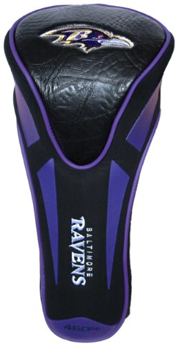 Team Golf NFL Baltimore Ravens Golf Club Single Apex Driver Headcover, Fits All Oversized Clubs, Truly Sleek ()