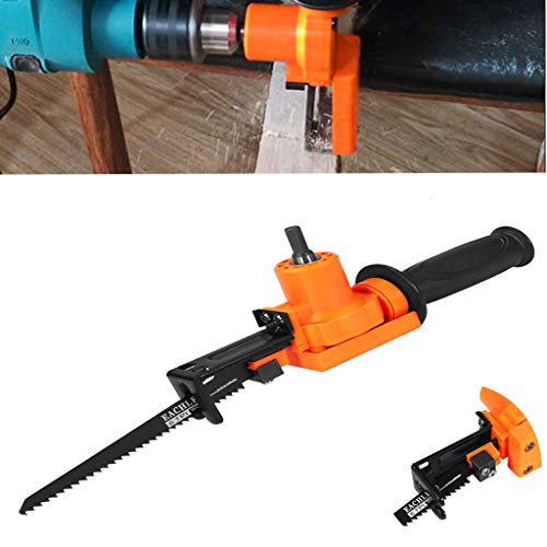 Ciyoon 2019 Orange Multifunction Reciprocating Saw Attachment Change Electric Drill Metal Cutting