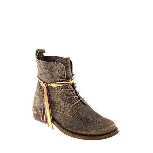 Felmini Damesschoenen - Verliefd Modigliani A930 - Vetersluiting Laarzen - Echt Leer - Multicoloured
