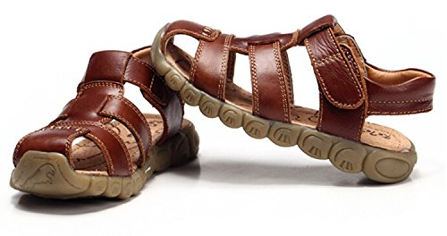 Zicoope Summer Outdoor Athletic Flat Sandals for Boys (Toddler/Little Kid) Brown 10 M by Zicoope (Image #2)