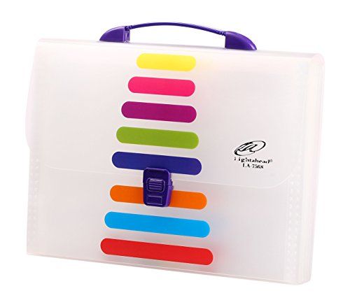 Lightahead® LA-7568 Expanding File Folder with handle and insert button with 13 pockets. as pictured