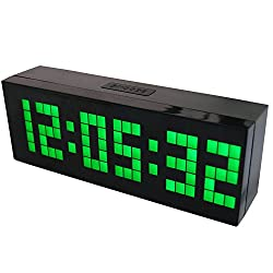 Chihai Digital Led Clock Wall Alarm Digital Calendar Clock Count Down Timer(green)