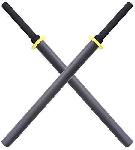 Repliksword 2X Batons Bokken Mousse Black Ed E413-BX2 Entrainement Epee Arts Martiaux Sabre