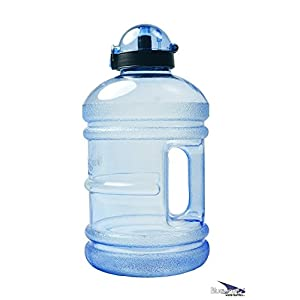 Bluewave Daily 8 Tritan BPA Free Water Jug - 1.9 Liter (64 oz) Sky Blue (Gen2): The Original 8 Glasses a Day Healthy Diet, Gym Workout Bottle