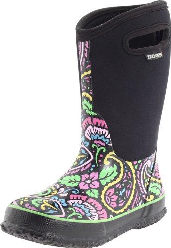 Bogs Girls Wellington Boots Insulated Size UK 6-2 Classic Tuscany Black 52502-UK 11 (EU 29)