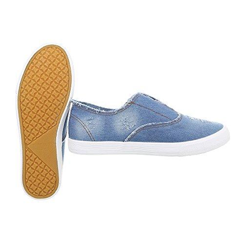 Ital Slipper Design Hellblau Halbschuhe R13 Damenschuhe vv6wxPqg