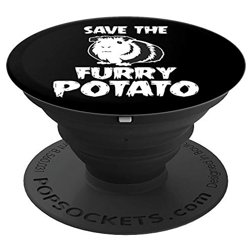 Mountain Guinea Pig Design - Save The Furry Potato - PopSockets Grip and Stand for Phones and Tablets