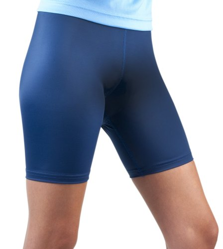 7 Inseam Short (Women's Spandex Exercise Compression Workout Shorts Navy Blue)