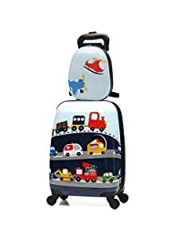 MOREFUN 2 Pcs Kids Travel Luggage Set 18'' Carry on Luggage and 13'' Backpack