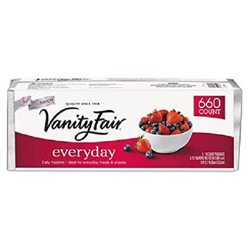 Vanity Fair Everyday Napkins, White, 660 - Valley Fair Store
