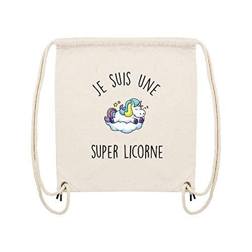 Lmk Super Beige Je gym Coton Une Lookmykase Licorne Sac 10 Suis qCwS66