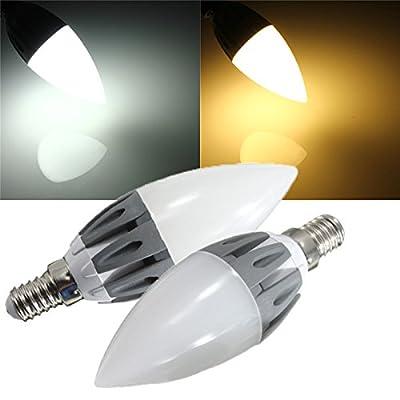 Lights & Lighting - C37 E14 3w Warm White/White Smd2835 15leds 230lm 110-240v - Led Light Bulbs Candelabra Chandelier Daylight Bulb 5000k Lighting Warm White Watt Candle - 1PCs