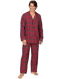 Mens Flannel Pajamas Sets - Cotton Pajamas for Men, Button Top
