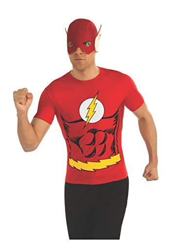 Rubie's DC Comics Justice League Superhero Style Adult Top and Mask Flash, Red, Large -