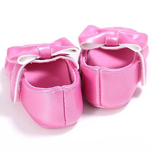 Zapatos de bebé, Switchali zapatos bebe niña bowknot verano Recién nacido Niña Cuna Suela blanda Antideslizante Zapatillas Bebé niña Princesa vestir casual Rosa Fuerte