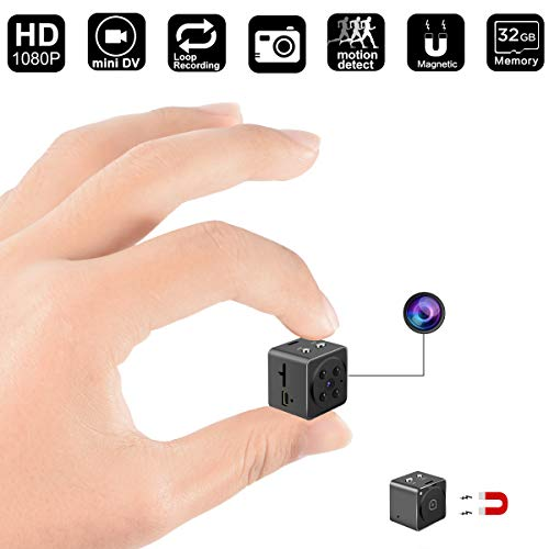 Mini Camera, Spy Hidden Camera DigiHero HD 1080P Cam with Night Vision and Motion Detective,Perfect Indoor Covert Security Camera for Home and Office(Update)