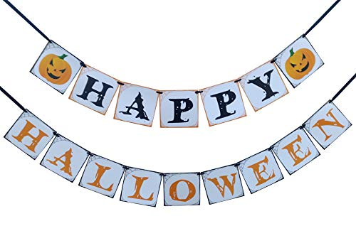 Happy Halloween Banner - Halloween Party Decoration for Indoor or Outdoor, Home, School or Office]()