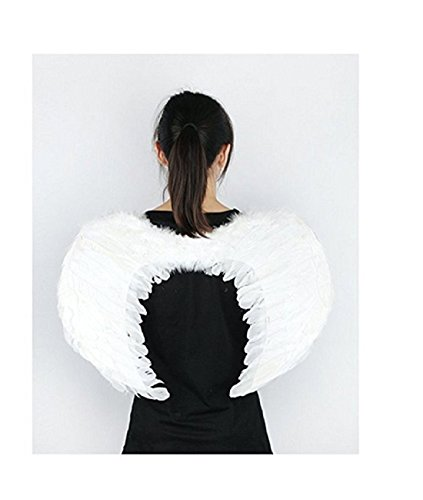 [PGXT Halloween Party Costumes Feather Angel Wing (White / 4535)] (Angel Wings For Halloween Costumes)
