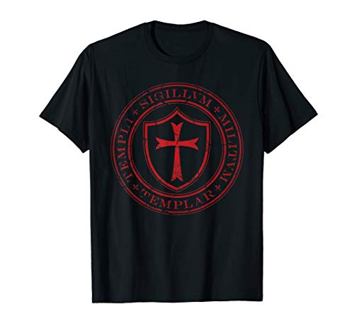 Distressed Knights Templar Cross, Seal of Soldiers T-Shirt
