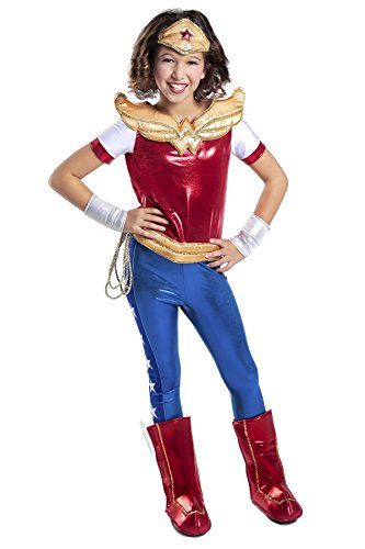 Princess Paradise DC Super Hero Girls Premium Wonder Woman Costume, Red/Blue, Small