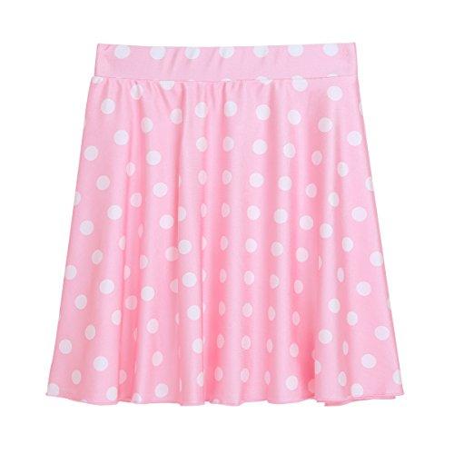Jupe Line Soire Rose Femme Jupe Plage Tutu Crmonie Haut Jupe de Jupe Casual Taille lastique de de de de Tiaobug Jupe Jupe Vintage A Pliss Pois Danse Jupe Bal Jupe Z4qOwq