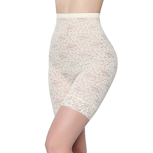 Shaper Firm Lace White - Classic Black Lace Shapewear Tummy Control Body Shaper Plus Size FeelinGirl, White, XL=Waistline 26.5-28 Inches