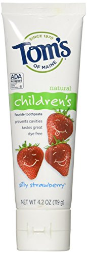 Tom's of Maine Anticavity Fluoride Children's Toothpaste - 4.2 oz - Silly Strawberry (Maine Toms Of Toothpaste Anticavity)