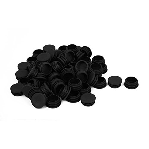 uxcell Plastic Blanking End Caps Round Tube Inserts 32mm Dia 100pcs Black by uxcell