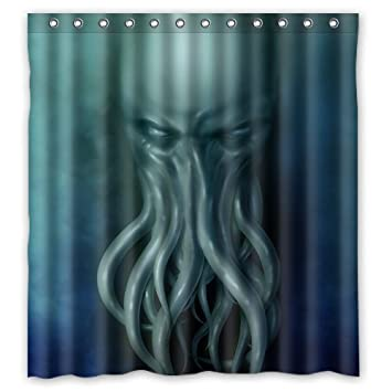 Sea Secret Cthulhu Monster Custom Personalized Waterproof Shower Curtain  Bathroom Curtains 66 Inches