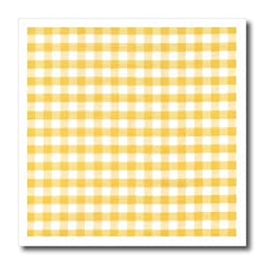 ht_113020_1 InspirationzStore Gingham patterns - Yellow and white Gingham pattern - sunny checkered rustic country kitchen checked dining theme check - Iron on Heat Transfers - 8x8 Iron on Heat Transfer for White Material