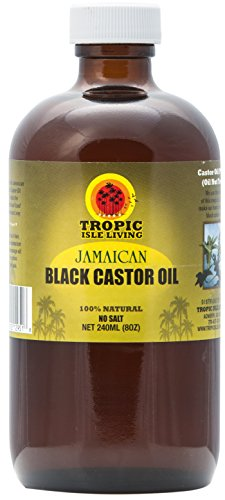 Tropic Isle Jamaican Black Castor Oil, 8 oz Plastic PET bottle (Castor Massage Oil)